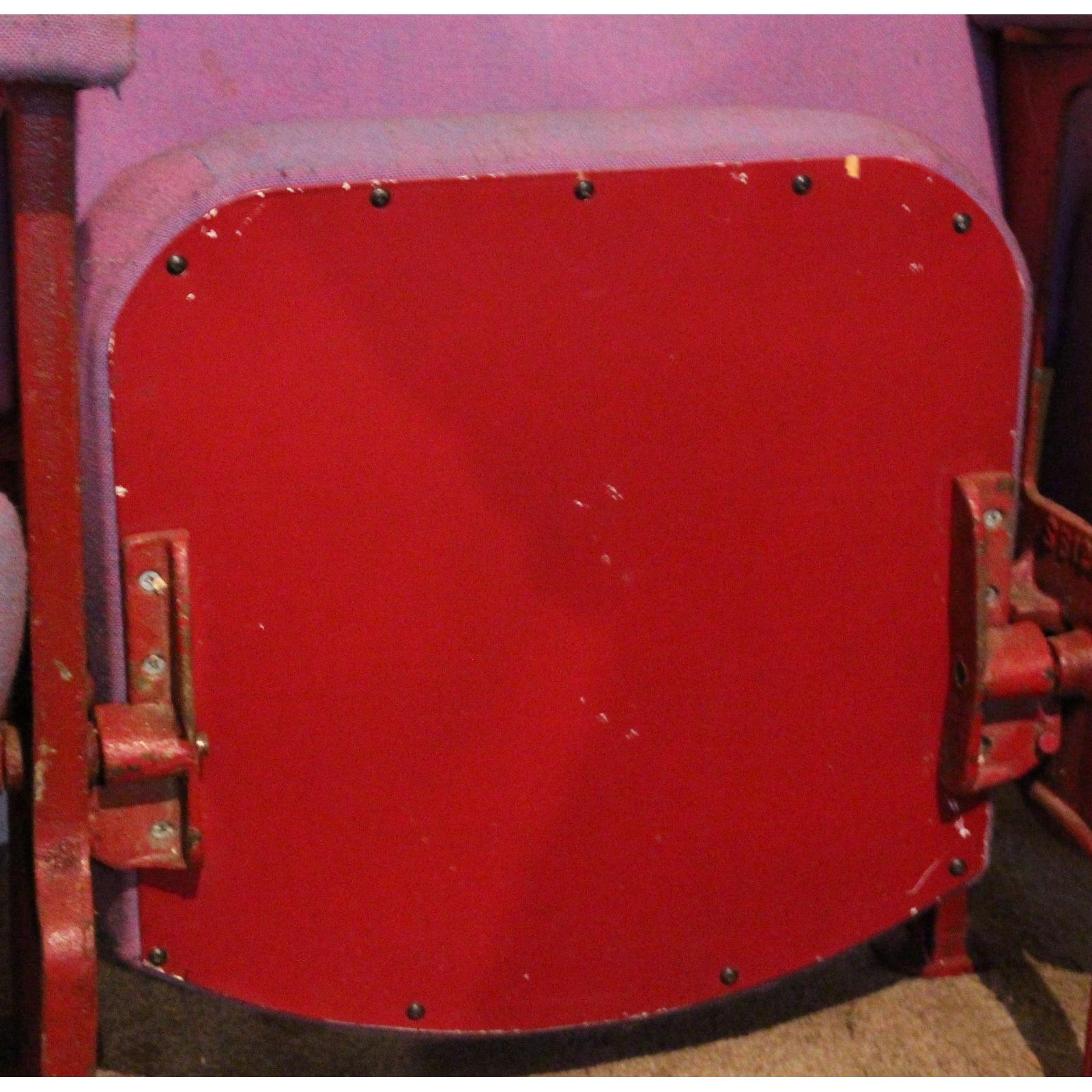 A row of four vintage retro c1930s cinema theatre seats chairs abc a row of four vintage retro c1930s cinema theatre seats freerunsca Gallery
